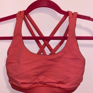 Pink Lululemon Bra Size 4